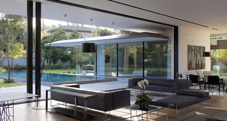Maison d architecte flottante au dessus de l eau tel - La demeure moderne gb house par mmeb architects ...