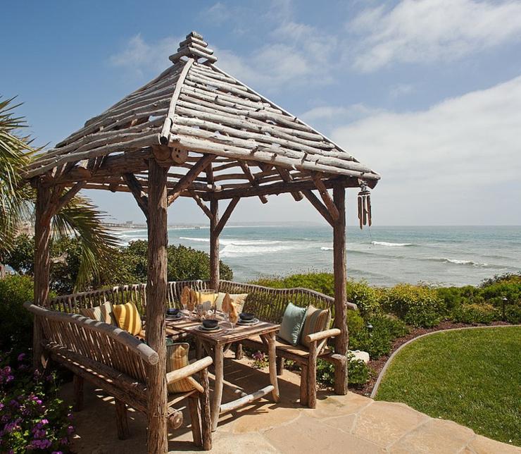 Magnifique maison de vacances au charme rustique en - Tres belle maison rustique cotiere californie ...