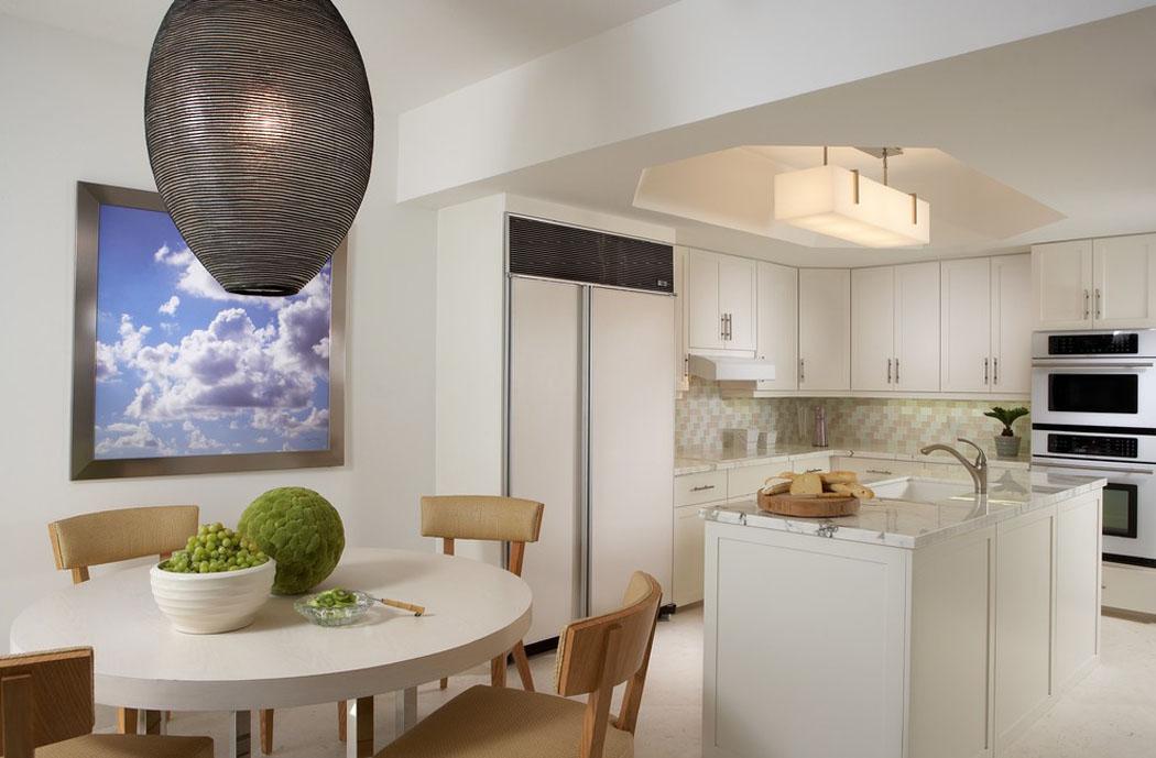 Magnifique int rieur au design l gant de cet appartement for Coin cuisine amenagee