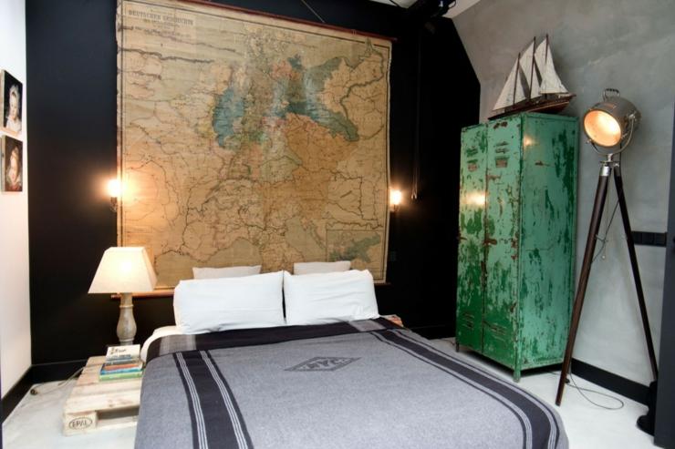 Loft aux touches tr s masculines amsterdam vivons maison for Chambre style loft industriel
