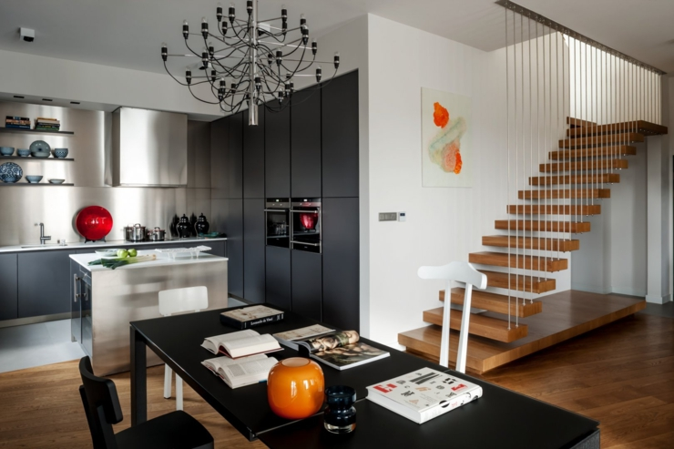 Appartement moderne l int rieur design en pologne for Architecture moderne interieur