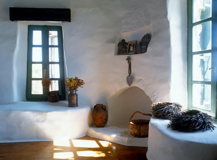 Intérieur de cette maison de vacances en Grèce aux touches authentiques