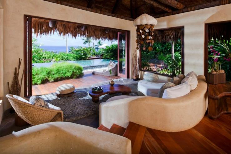 Vacances de luxe au complexe h telier fidjien laucala - Villa de vacances exotiques island views ...