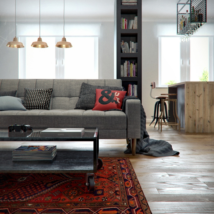 Int rieur design moderne pour un petit appartement minsk bi lorussie vivons maison - Modern deco appartement ...