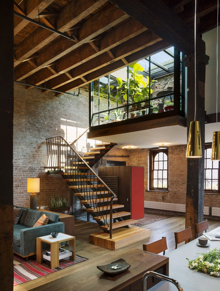Beau loft industriel manhattan new york vivons maison for Inter designing
