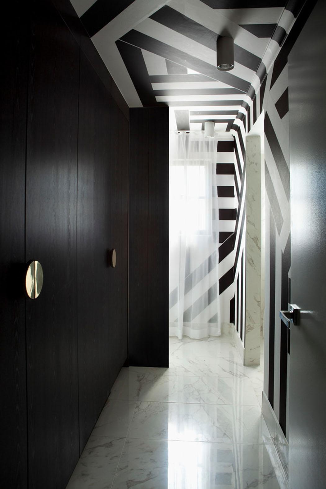 Deco Noir Et Blanc bel appartement design à brisbane à la déco élégante en noir