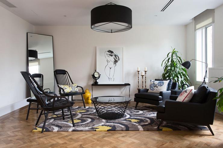Belle maison moderne et citadine melbourne australie for Petit salon moderne