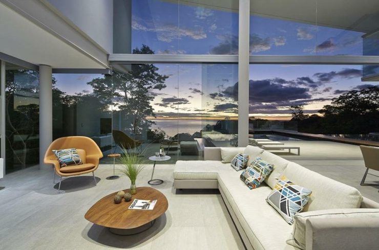 Villa contemporaine costa rica avec belle vue sur la mer vivons maison - Les plus beaux interieurs de maison ...