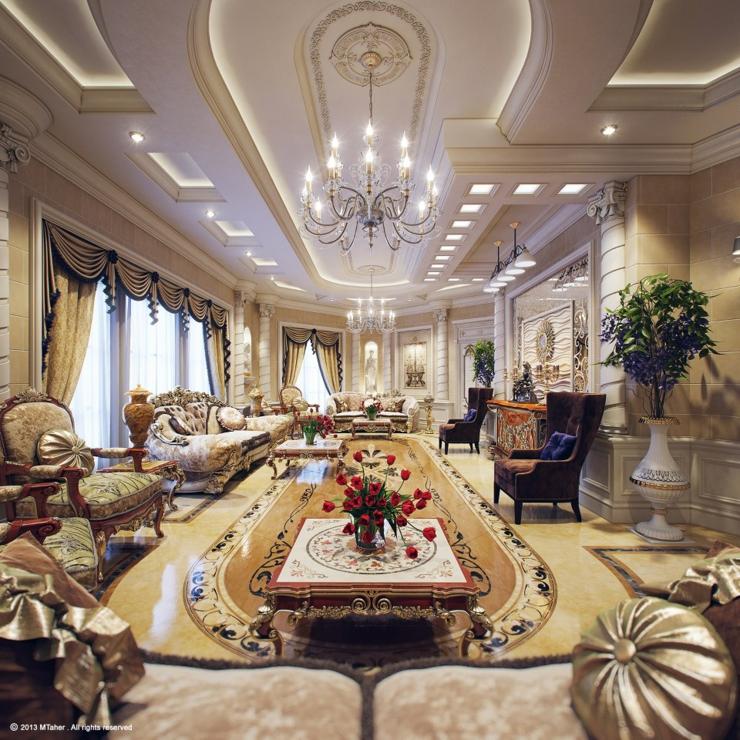 Villa de luxe au design d int rieur oriental au qatar vivons maison Style house fashion trading company uae