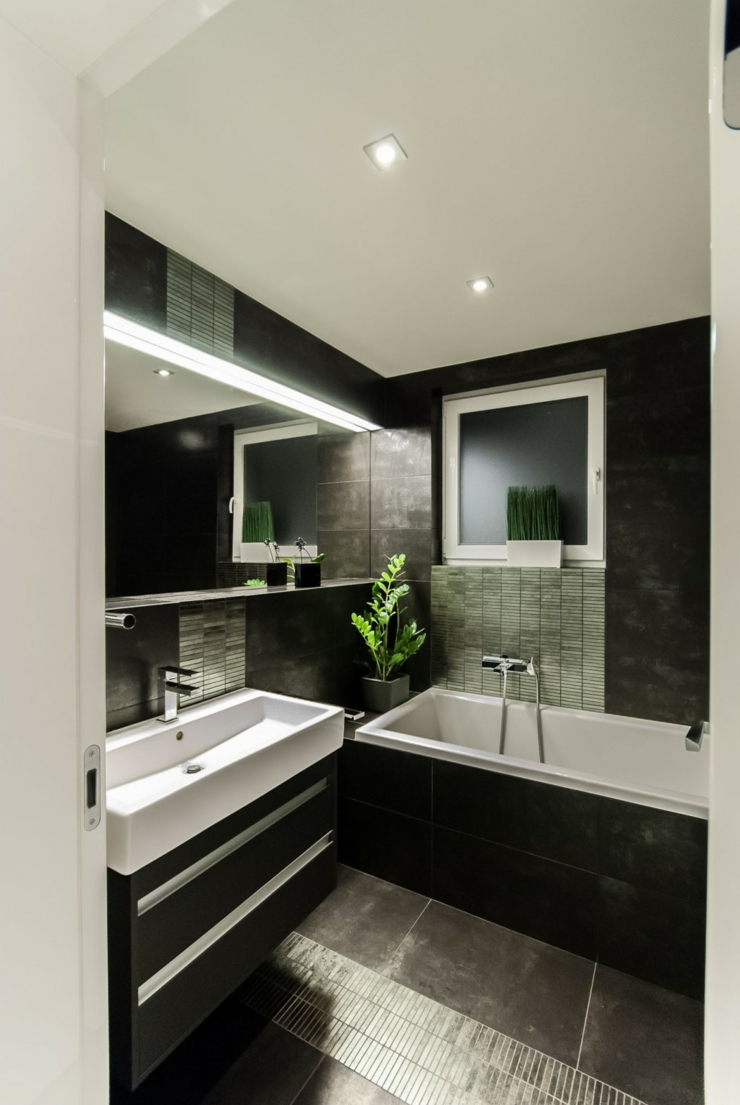 carrelage salle de bain moderne noir. Black Bedroom Furniture Sets. Home Design Ideas