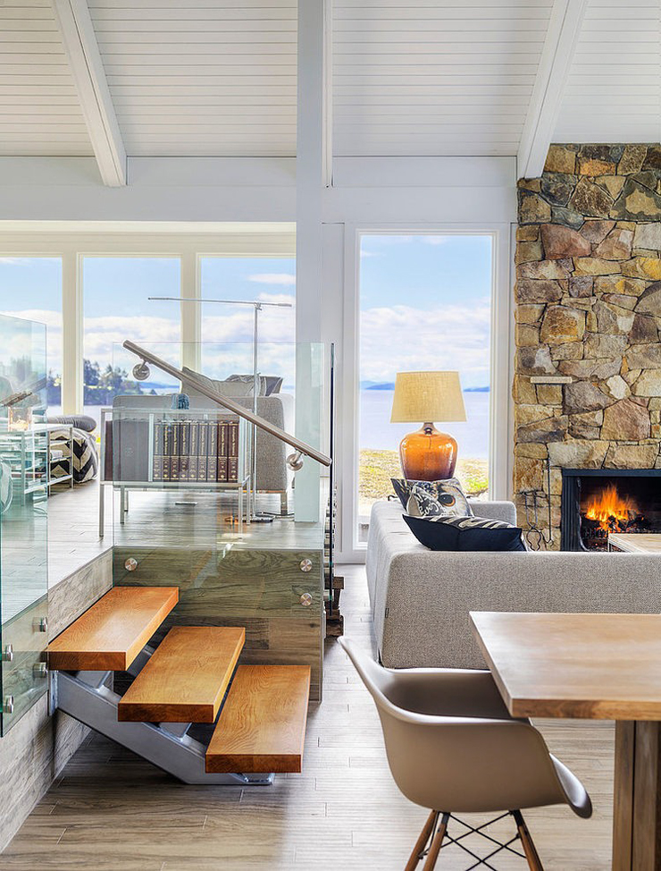 Villa moderne sur une le au canada vivons maison for Interieur de villa moderne