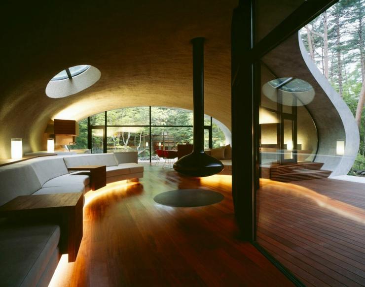 Maison Moderne Japonaise A L Architecture Futuriste A Nagano