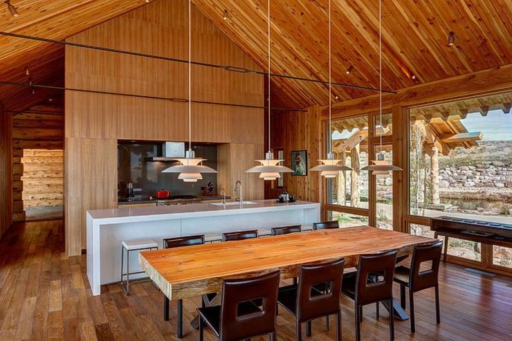 Maison en bois au c ur de la for t hant e vivons maison - Chalet en bois interieur ...