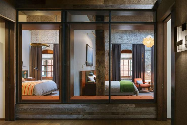 chambres parois verres loft industriel - Chambre Loft Industriel