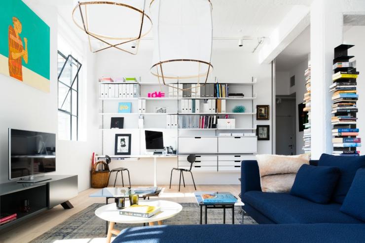 Loft design tr s lumineux au c ur de londres vivons maison for Bureau style loft