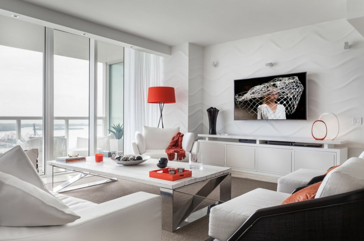 Bel appartement de vacances avec vue miami beach vivons maison - Appartement moderne de ville decor design ...