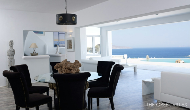 Vacances en gr ce dans une villa en blanc et bleu vivons maison for Location maison de vacances de luxe