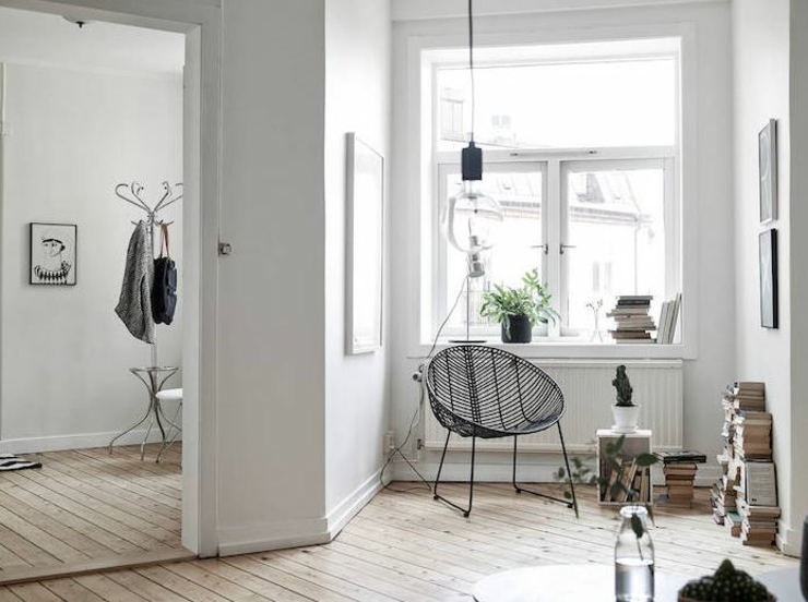 Appartement moderne au design scandinave vivons maison for Interieur maison gris et blanc