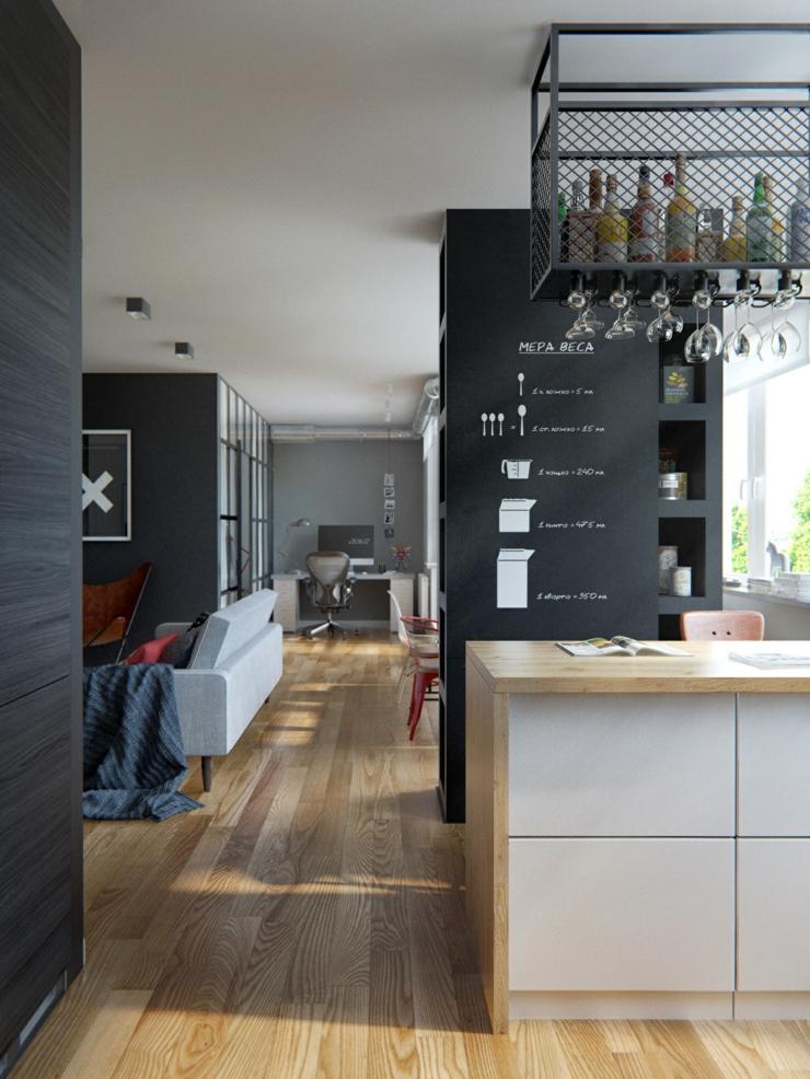 Intérieur design moderne pour un petit appartement à Minsk ...