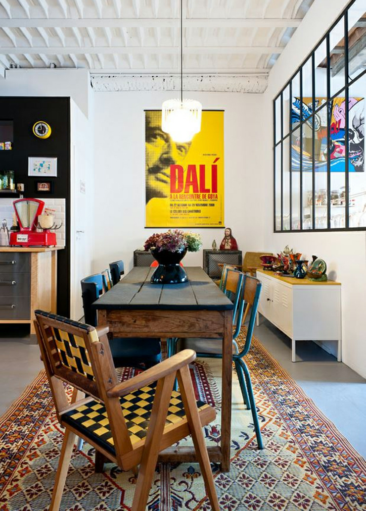 Loft industriel au design int rieur d inspiration bordeaux vivons maison - Interieur eclectique grove design ...