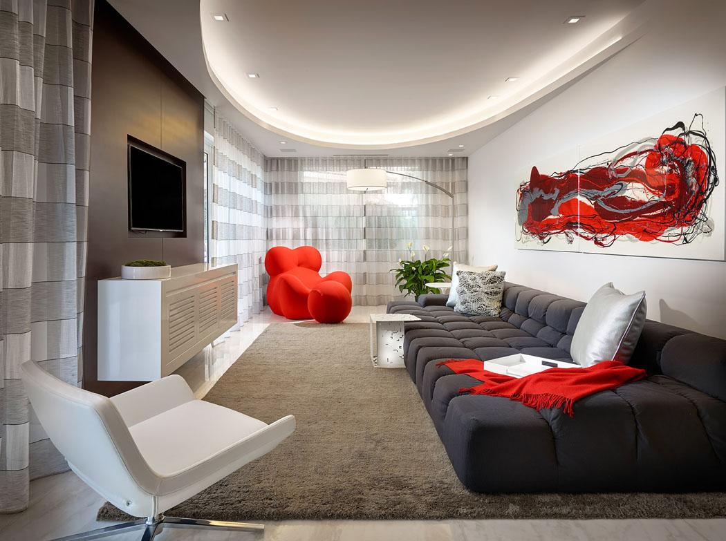 Salon De Luxe Moderne Avec Télé : Exotique résidence secondaire pour passer des vacances