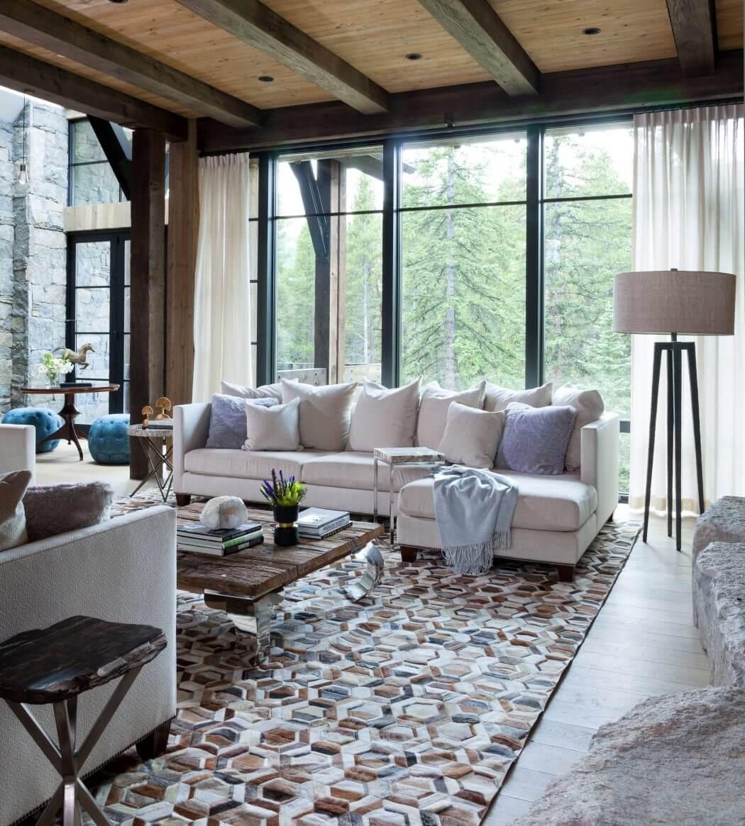 Chalet de montagne l int rieur rustique luxueux dans for Decoration rustique interieur