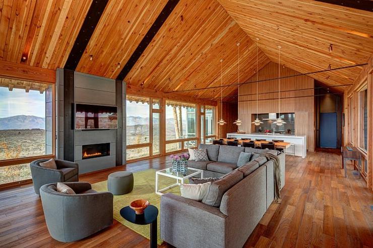 Maison en bois au c ur de la for t hant e vivons maison - Interieur chalet en bois ...