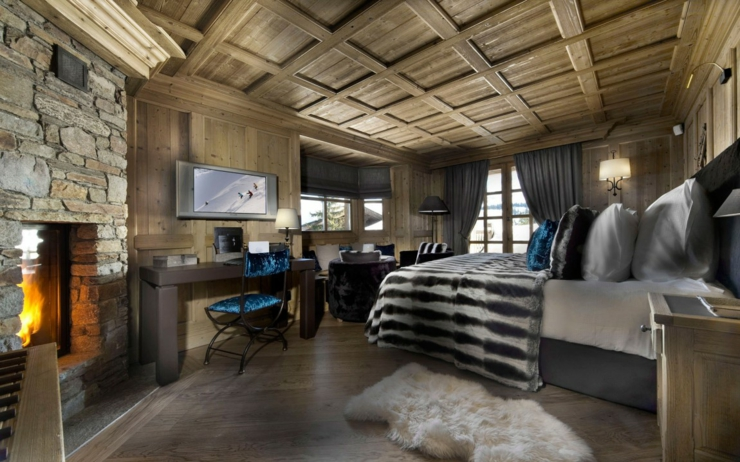 Beau chalet de luxe courchevel vivons maison for Interieur de chalet