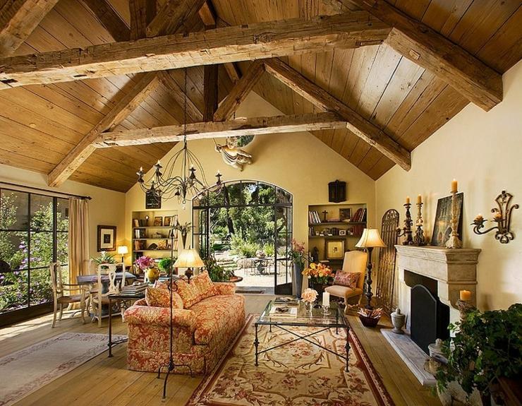 belle maison rustique montecito californie vivons maison. Black Bedroom Furniture Sets. Home Design Ideas