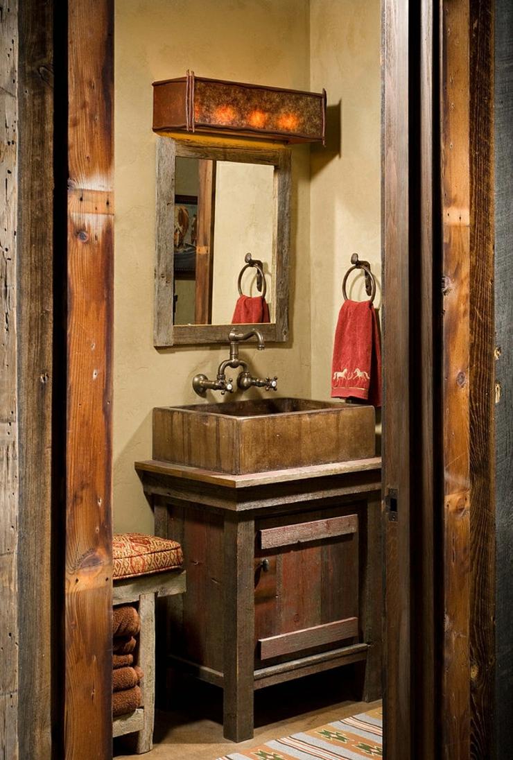Chalet en bois l me tr s rustique vivons maison - Meuble salle de bain rustique ...