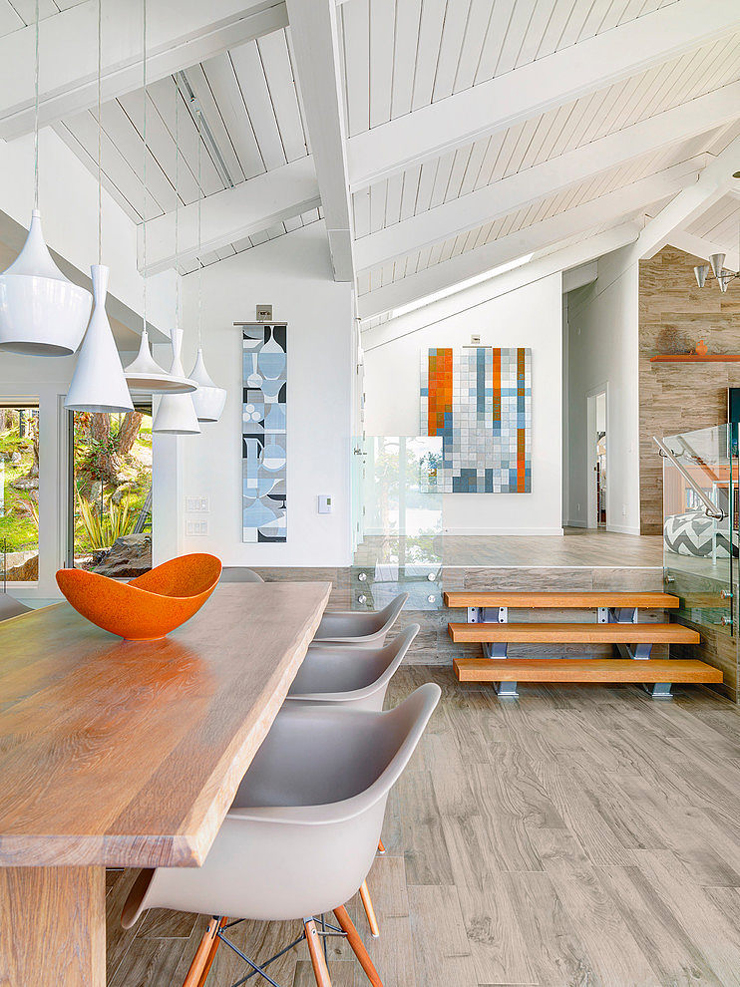 Villa moderne sur une le au canada vivons maison for Beach house look interior design