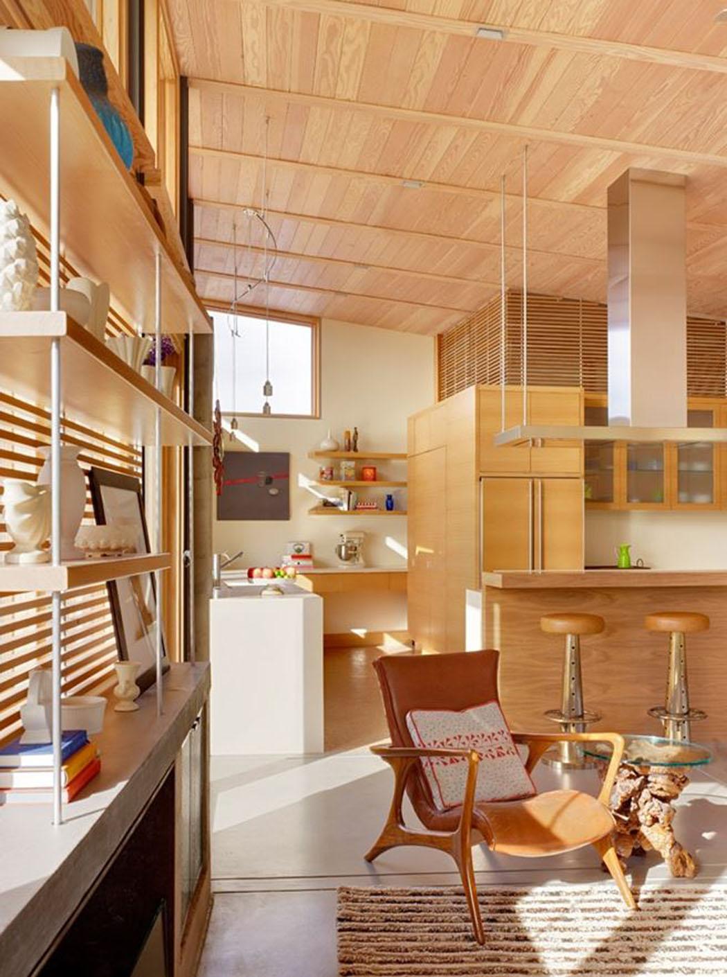 une moderne maison passive l esprit clectique situ e. Black Bedroom Furniture Sets. Home Design Ideas