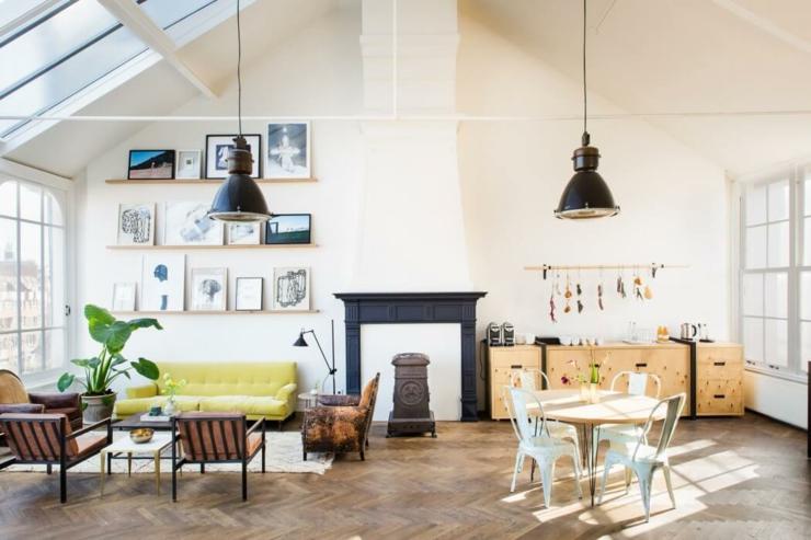 Original projet que ce loft industriel au c ur d amsterdam for Petit salon style industriel