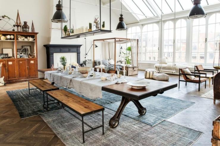 Original projet que ce loft industriel au c ur d amsterdam for Maison loft design