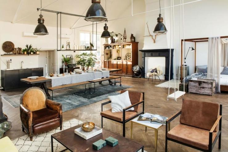 Original projet que ce loft industriel au c ur d amsterdam for Interieur stylist amsterdam