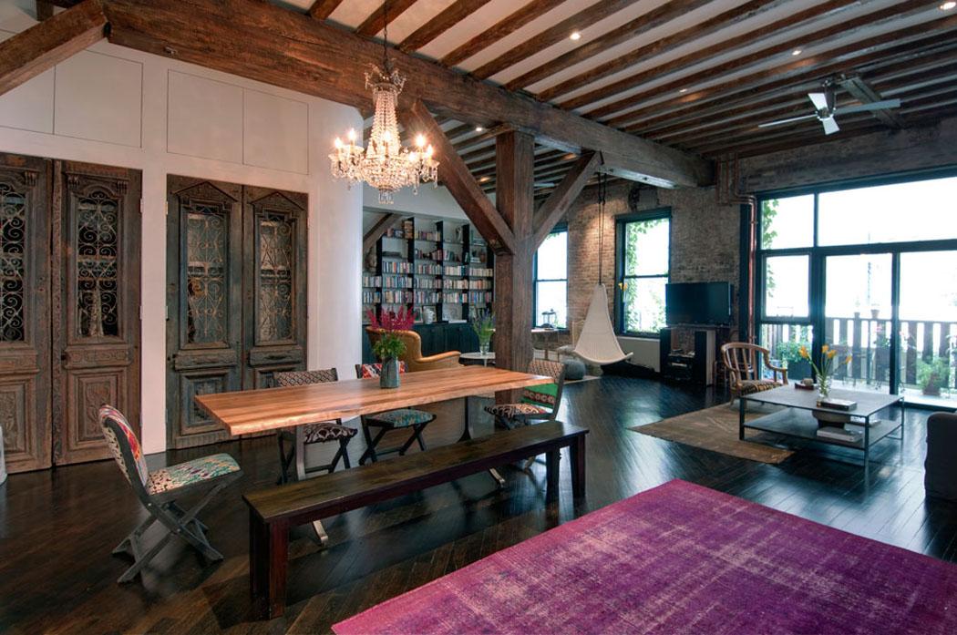 Agr able loft industriel brooklyn au caract re clectique affirm vivons - Style industriel loft ...