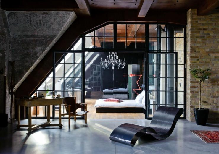 Loft Wall Design Ideas : Loft industriel au design int?rieur bien ?clectique ?