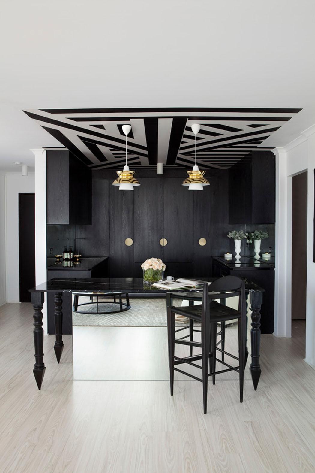 Bel Appartement Design A Brisbane A La Deco Elegante En Noir