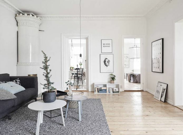 séjour appartement design scandinave