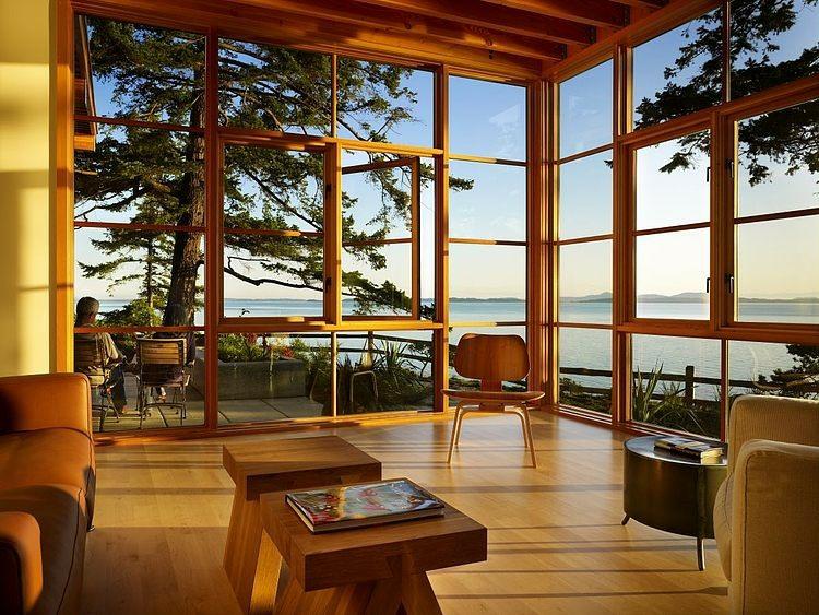 magnifique maison en bois construite en hauteur vivons maison. Black Bedroom Furniture Sets. Home Design Ideas