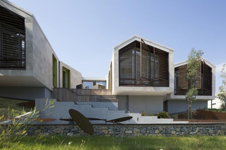 Maison originale l architecture cr ative en france - Maison de ville architecture contemporaine ...