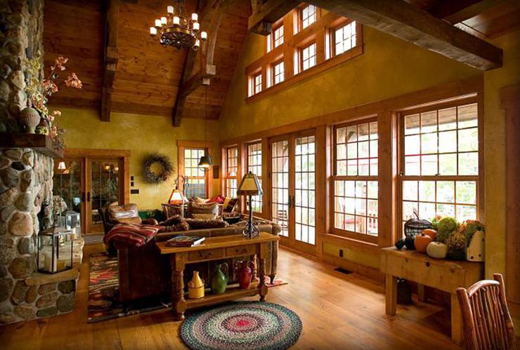 Belle maison avec vue sur le lac au design int rieur for Salle a manger harry potter