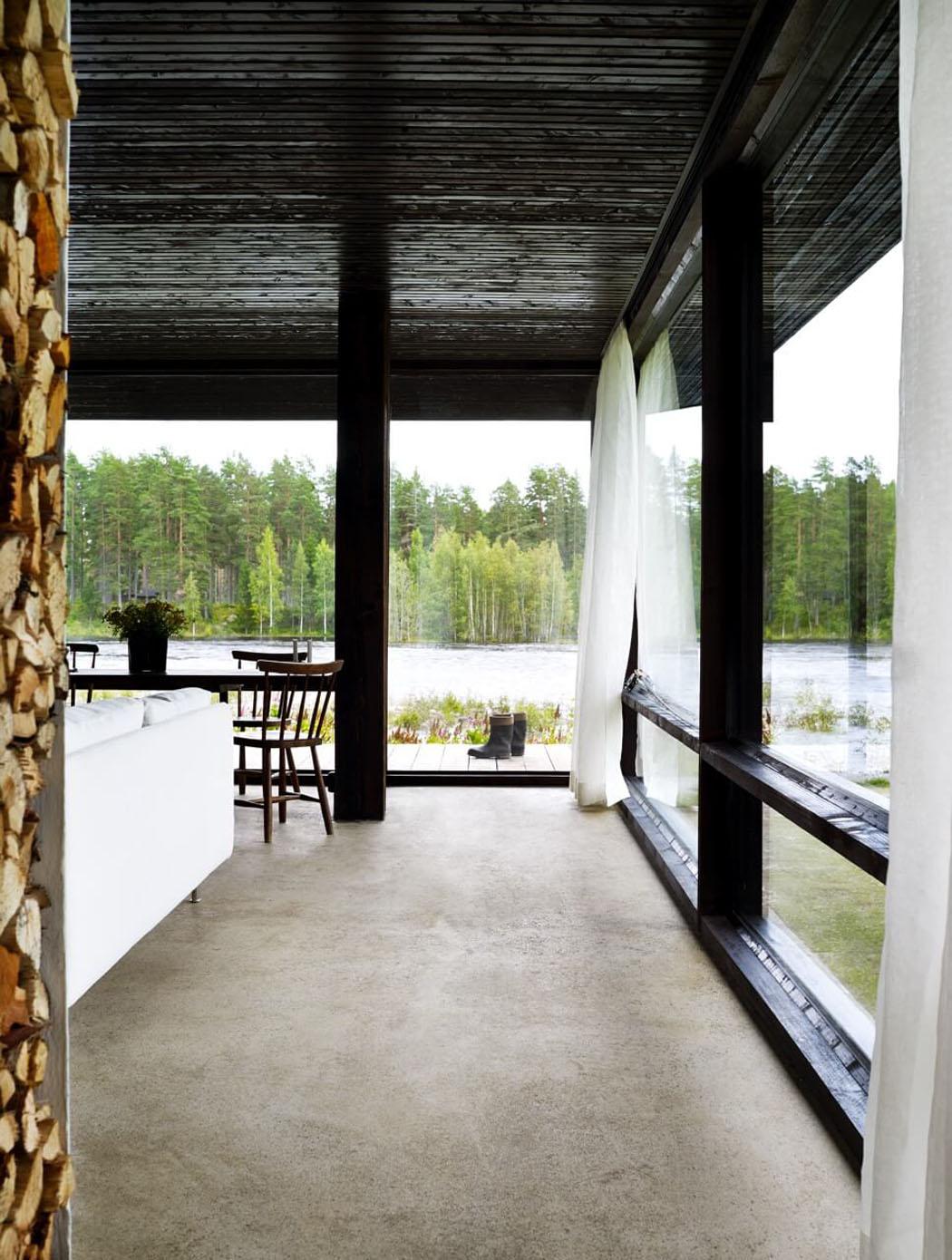 Intérieur lumière maison architecture contemporaine les murs transparents estompent habillement le frontière entre lextérieur et lintérieur