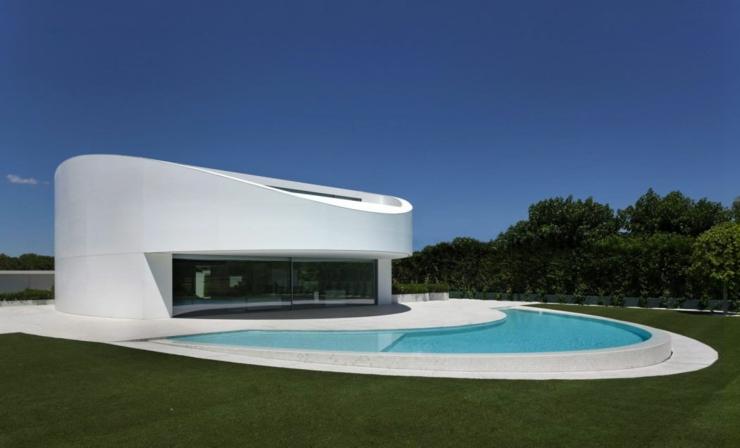 Maison d architecte originale valence espagne vivons for Architecture maison design esquisse