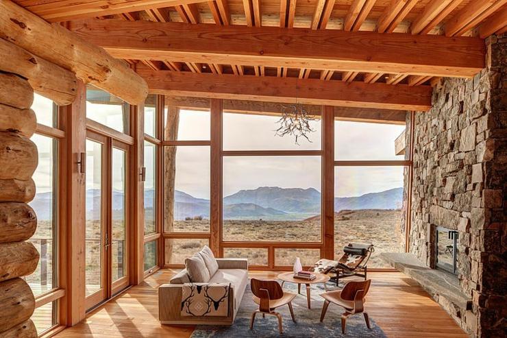 maison en bois au c ur de la for t hant e vivons maison. Black Bedroom Furniture Sets. Home Design Ideas