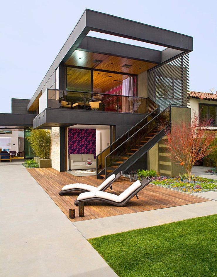 superbe maison d architecte los angeles vivons maison. Black Bedroom Furniture Sets. Home Design Ideas