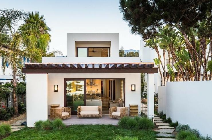 Jardin Derrière Maison Moderne Et Contemporaine Californienne