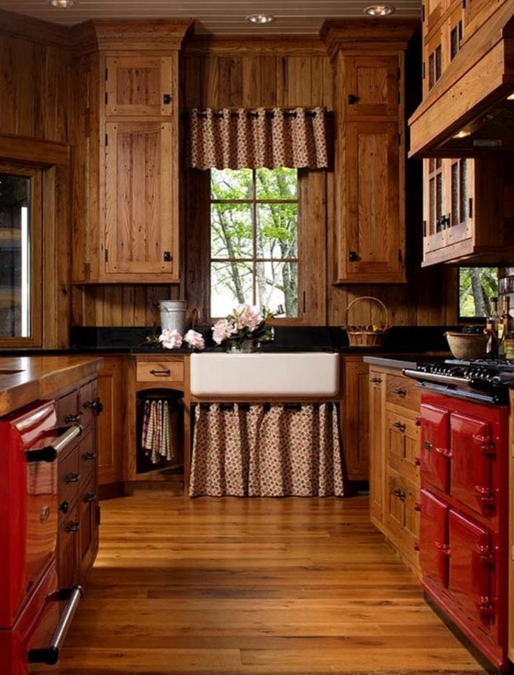 Maison rustique au charme authentique campagnard en caroline du nord vivons maison - Cuisine campagnarde en bois ...