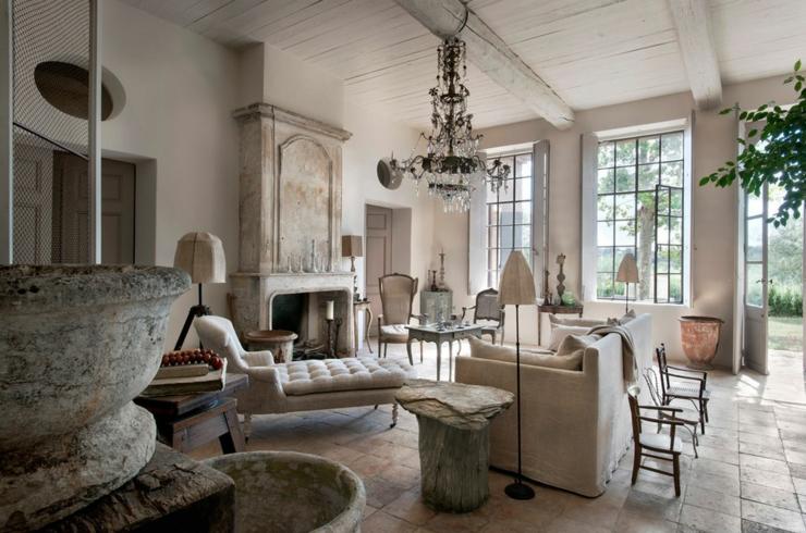 Magnifique maison de campagne dans le midi vivons maison for Salon style campagne chic