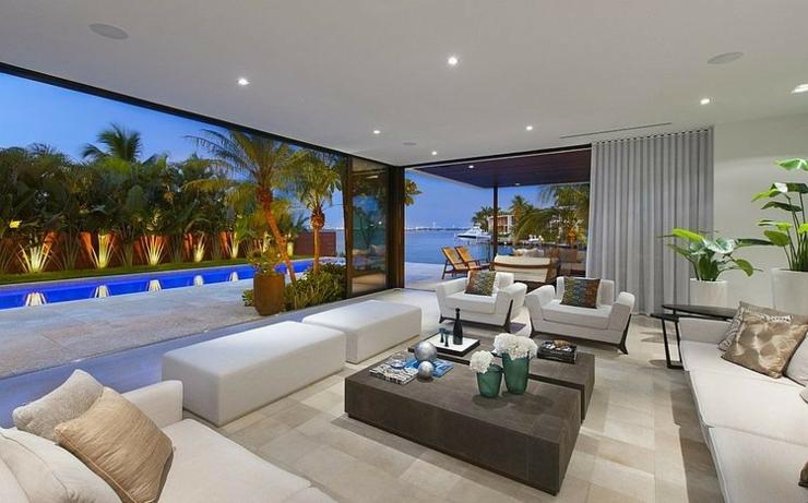 Maison de luxe miami beach floride vivons maison for Jardin a l americaine